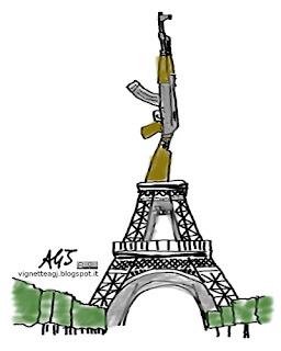 Parigi, terrorismo, attentati, estremismo islamico, satira vignetta