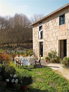 casa de piedra exterior