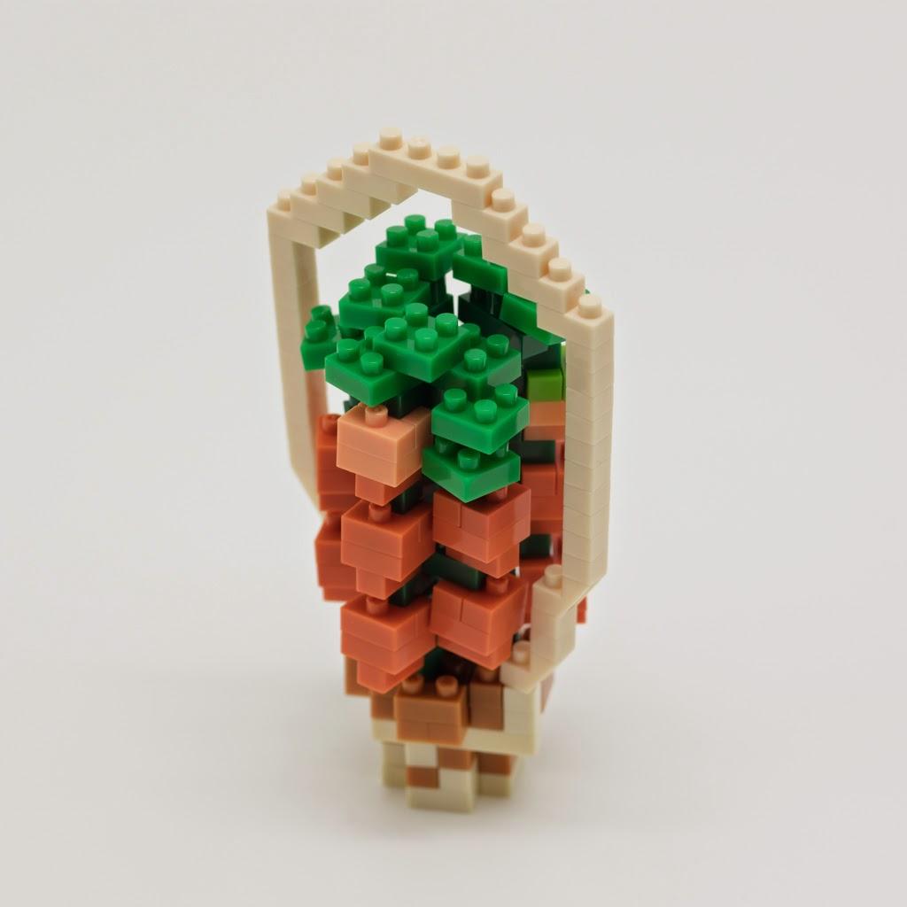 ナノブロックで作った、ほおずき