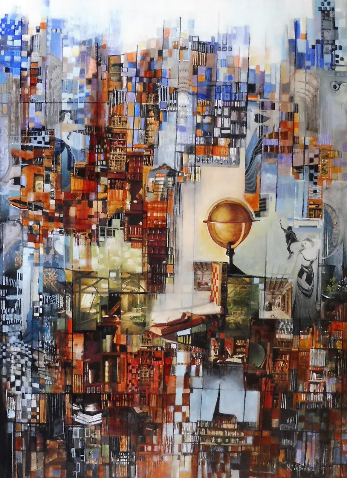 La bibliothèque imaginaire - 73 x 100 cm - 2020