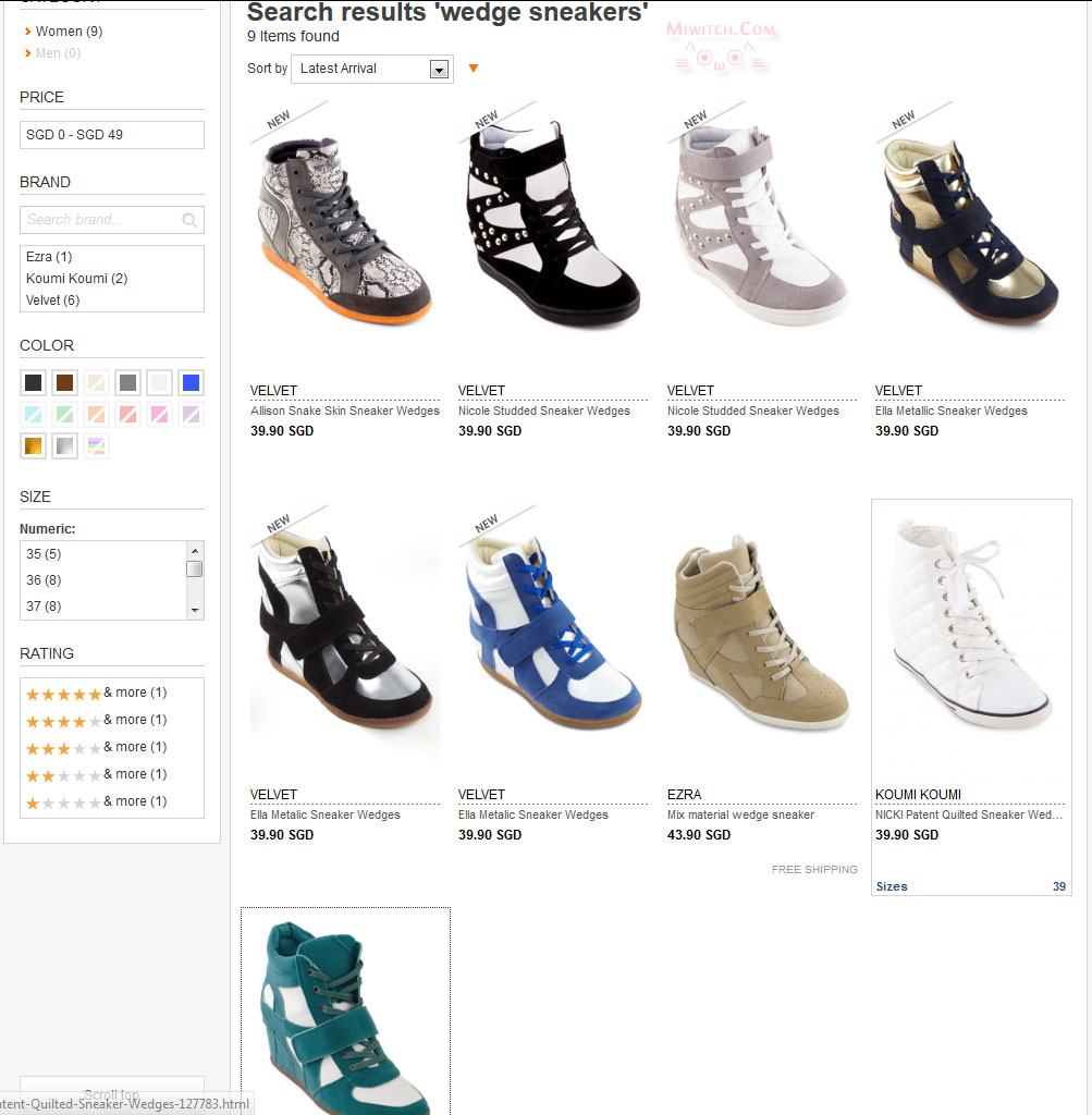 Have you noticed Zalora now carrys wedge sneakers too on their site?