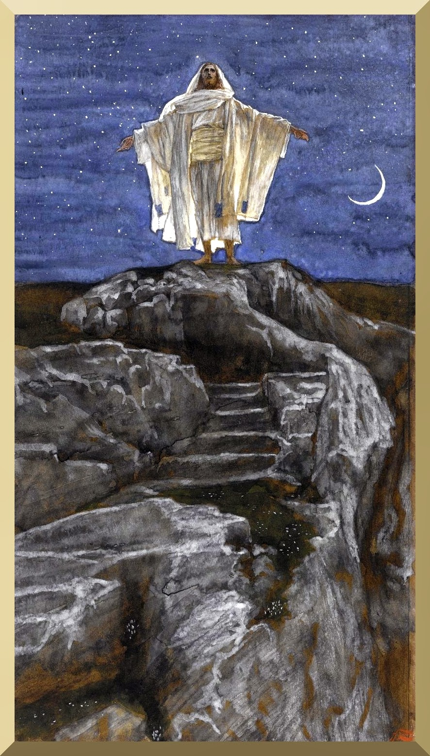 """Jesus Goes Up Alone onto a Mountain to Pray"" -- by James Tissot"
