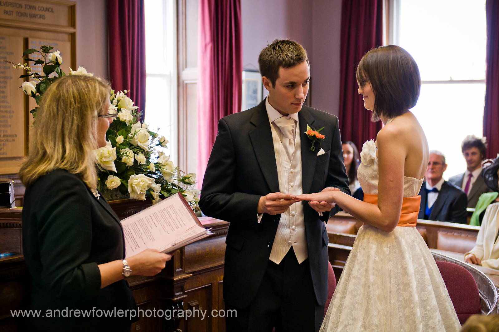 Ceremony Ulverston Register Office Bria Reception Marquee Leven Valley Sports Community Centre Haverthwaite