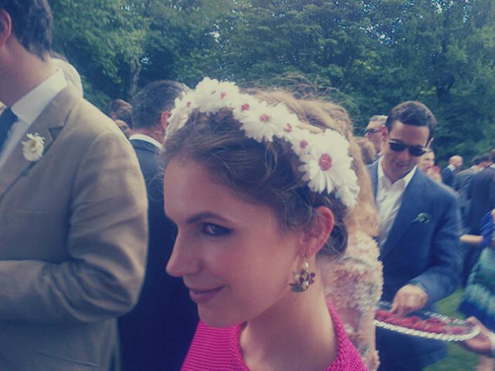 Eugenie Niarchos en la boda de Margherita Missoni