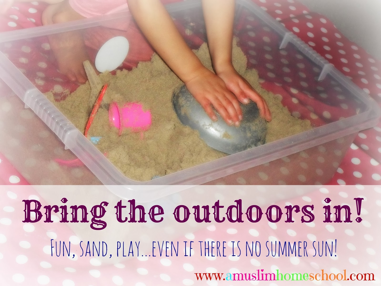 indoor winter activity with sand