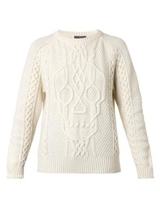 ALEXANDER MCQUEEN Skull cable-knit sweater