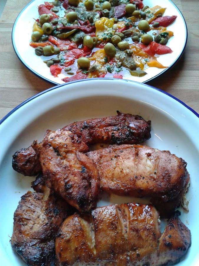 Pollo Tandoori con toque asiático