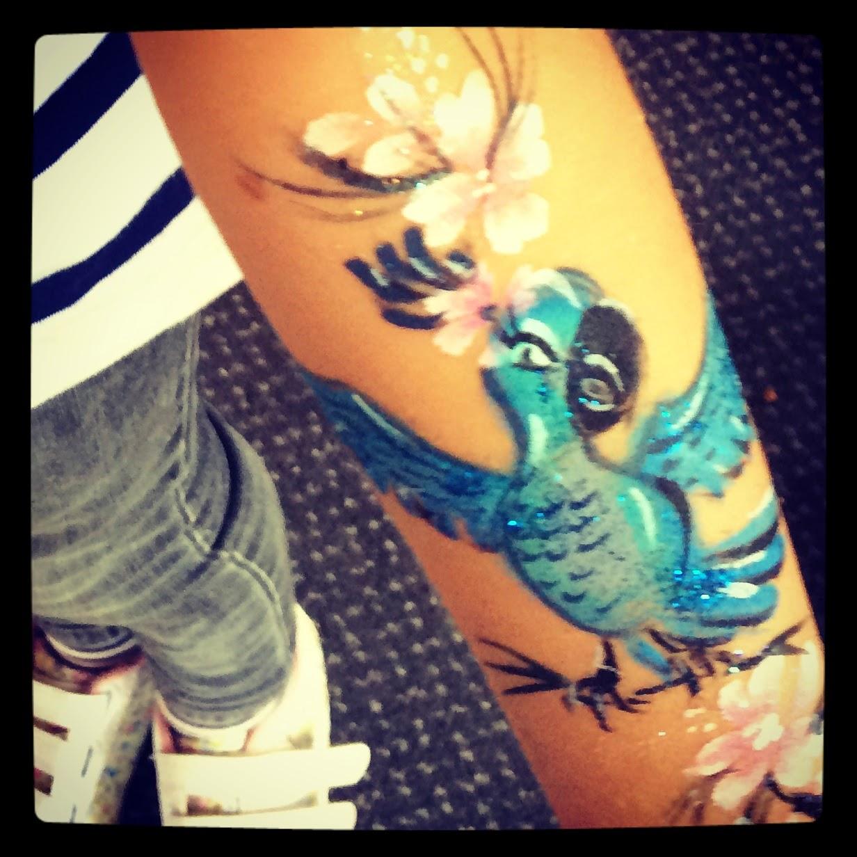 Rio 2 Jewel arm art/tattoo