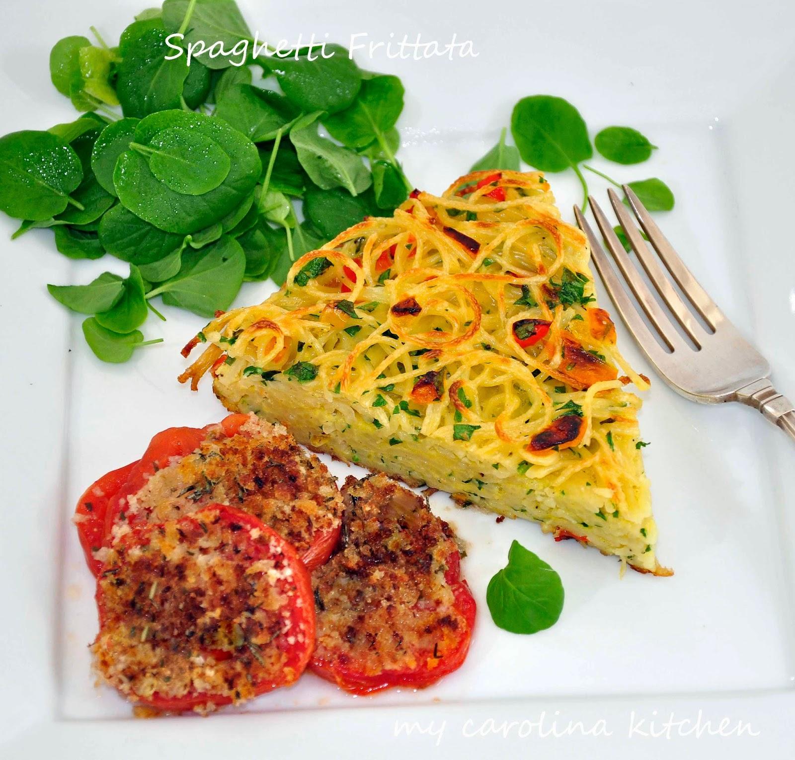 My Carolina Kitchen: Marcella Hazan's Spaghetti Frittata
