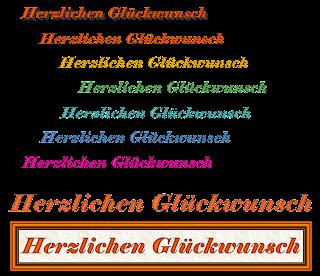 """""""Herzlichen Glückwunsch"""" in Variationen"""