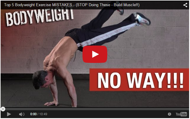 Top 5 Bodyweight Exercise MISTAKES