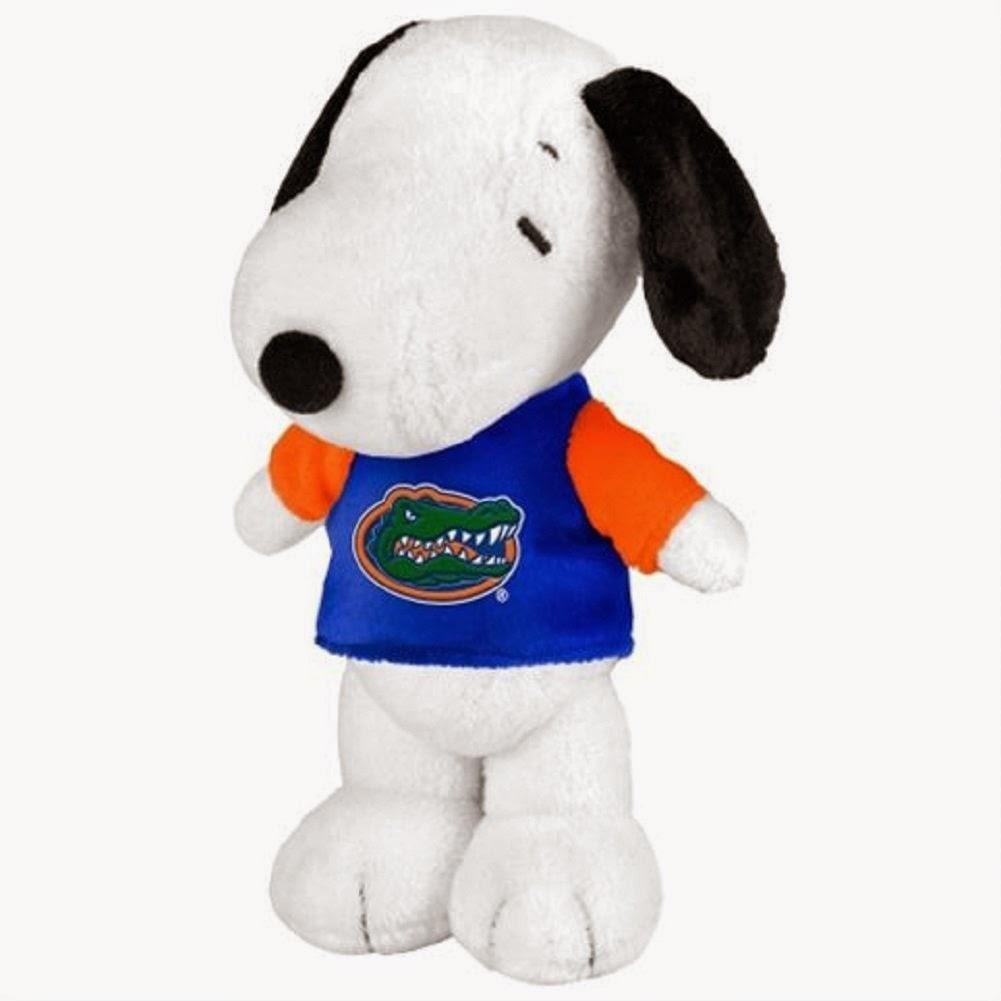 Plush Snoopy in Florida Gators shirt
