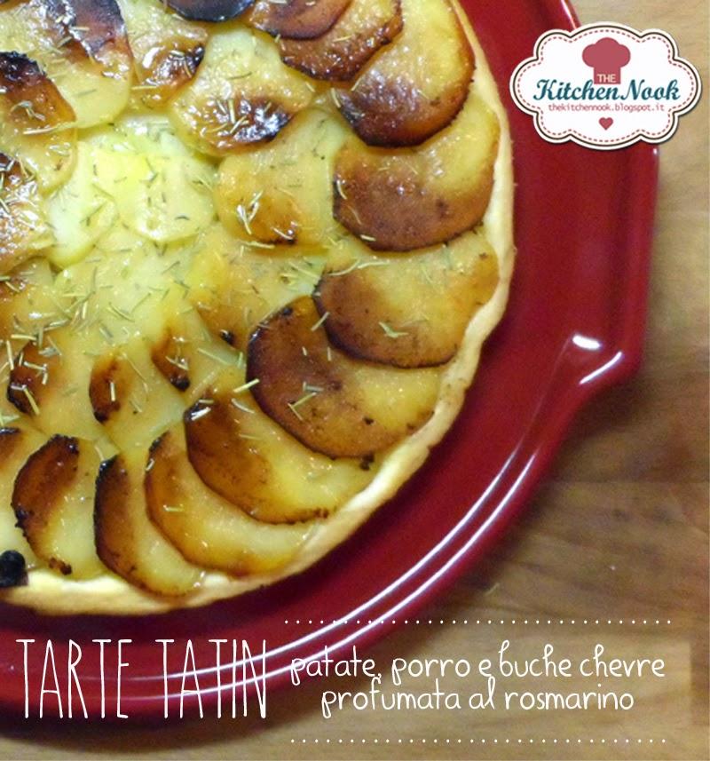 tarte tatin alle patate con porro e buche chevre e della gloriosa breve vita del suo coccio.