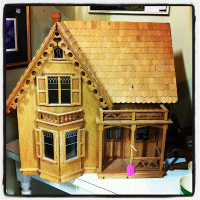 wood model victorian house