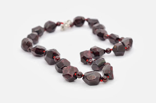 Big MM Bead Garnet Necklace