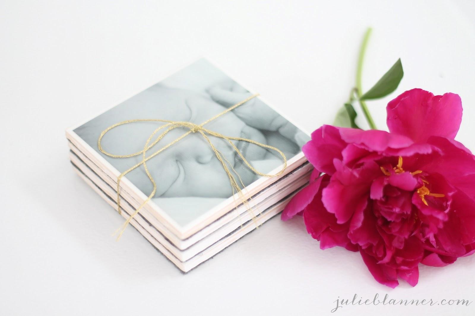 DIY Photo Coasters - Julie Blanner