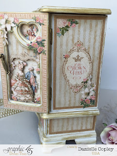 Graphic 45 Gilded Lily Jewelry Box Armoire by Scrapbook Maven thrift store find for a princess
