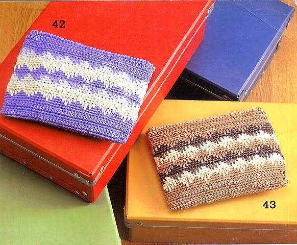 Monedero tejido al crochet - con diagramas explicativos | Crochet y ...