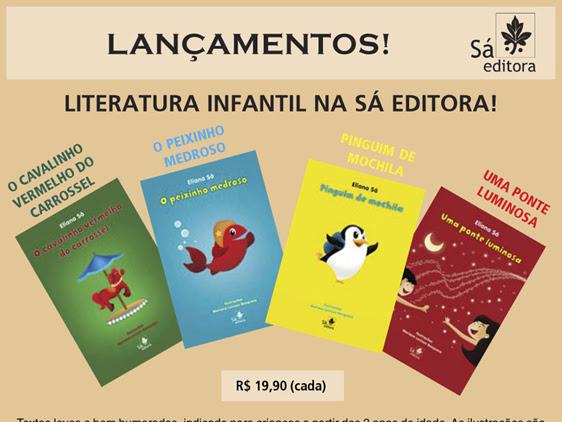 Sá Editora lança livros infantis