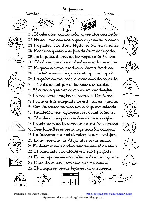 CoSqUiLLiTaS eN La PaNzA BLoGs: FICHAS SINFON DE DR