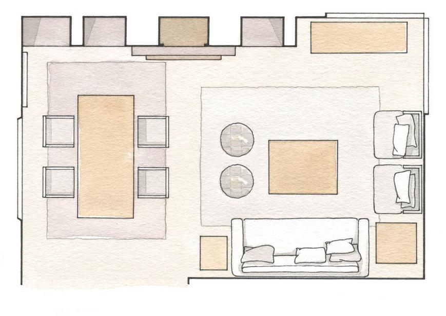 M nica castillo consejos para ampliar el espacio sal n for Como colocar los muebles del salon