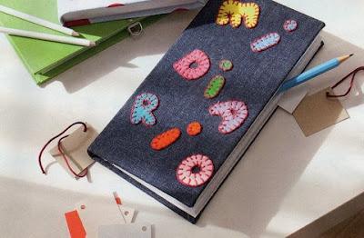 un diario personalizado y útil forrado de tela tipo vaquera y ...