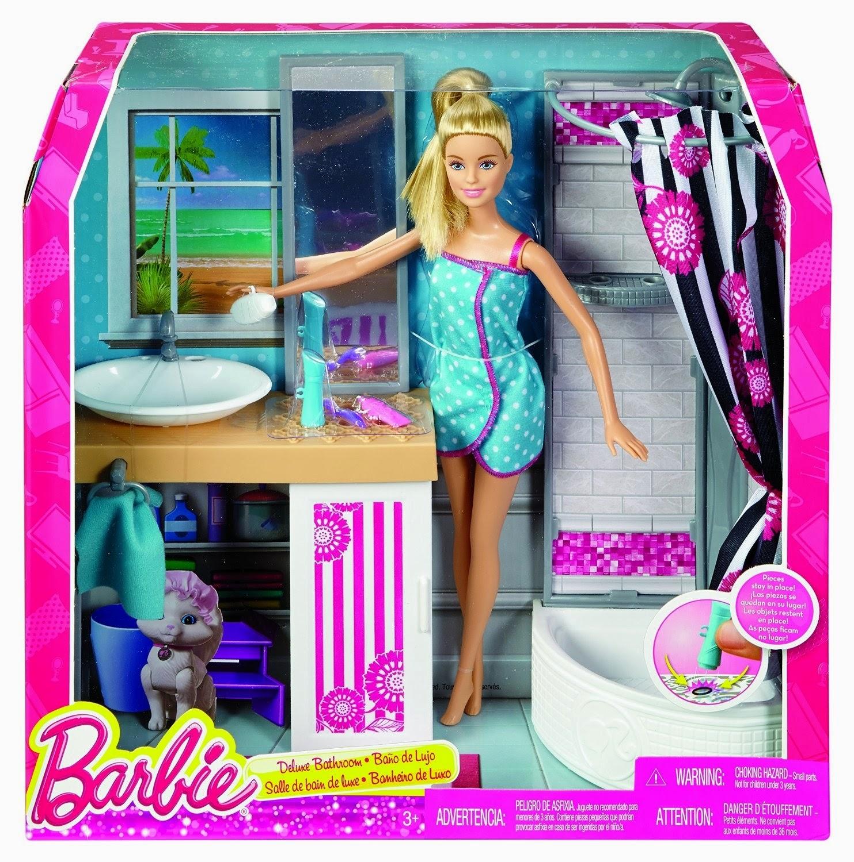 versões no final do ano da edição playline da barbie holiday e #BE0D79 1483x1500 Banheiro Da Barbie Mercadolivre