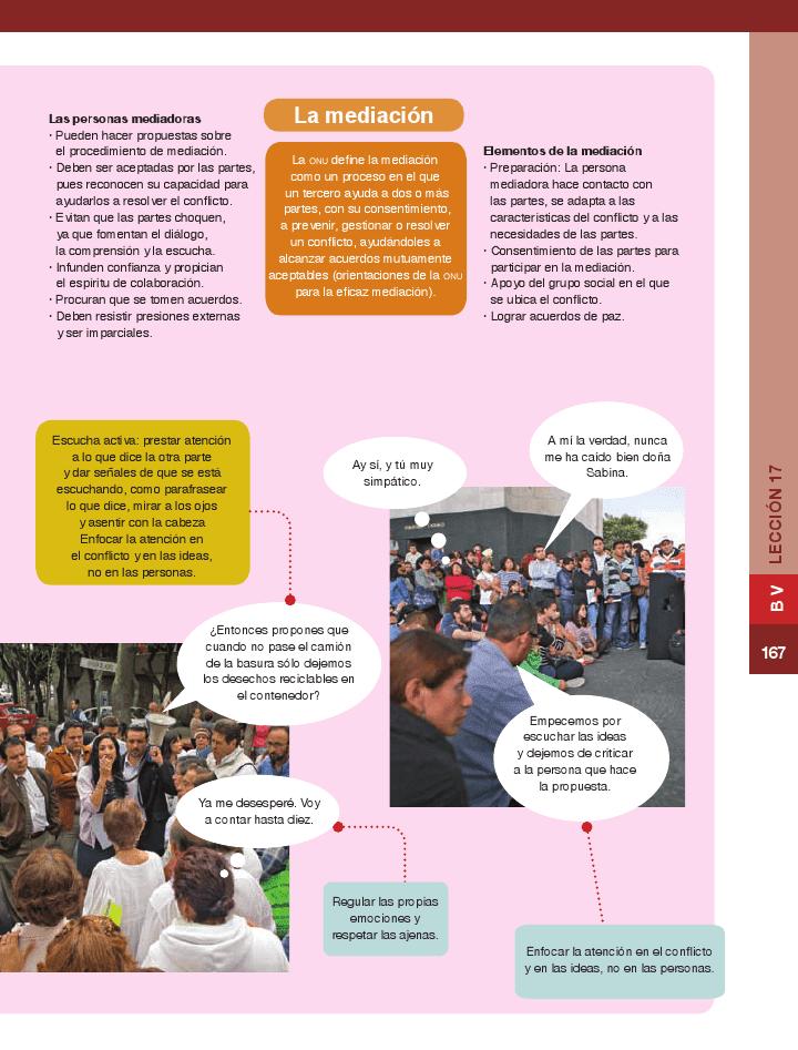 Los conflictos: componentes de la convivencia diaria - Formación Cívica y Ética 6to Bloque 5 2014-2015