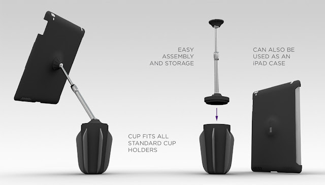 stance, ipad, cupholder, stand, ipad stand, cool, new, design, awesome, technology, creative