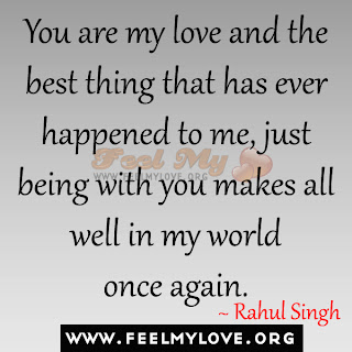 You are my love and the best thing
