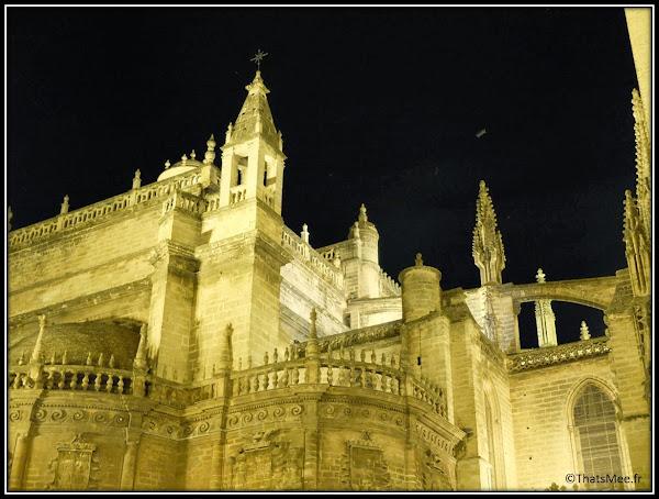 Séville Cathédrale et Giralda de nuit Andalousie
