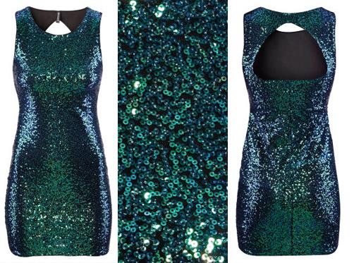 Kleid glitzer silvester