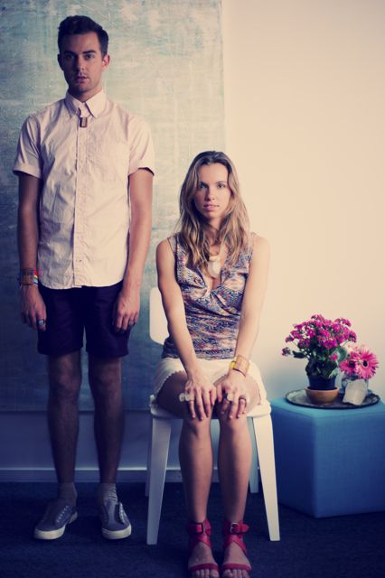 Photo of SAM FOCAS & MARINA by PAMELA TINNING -stun clothes from FABRIC-styled by me.x