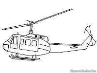 Mewarnai Gambar Helicopter Tempur TNI