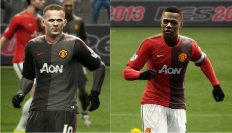 PES 2013 Manchester United Nike kits Pre-Match 2014-15 by Vulcanzero