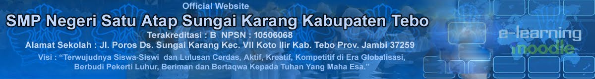 SMP Negeri Satu Atap Sungai Karang Kabupaten Tebo Provinsi Jambi