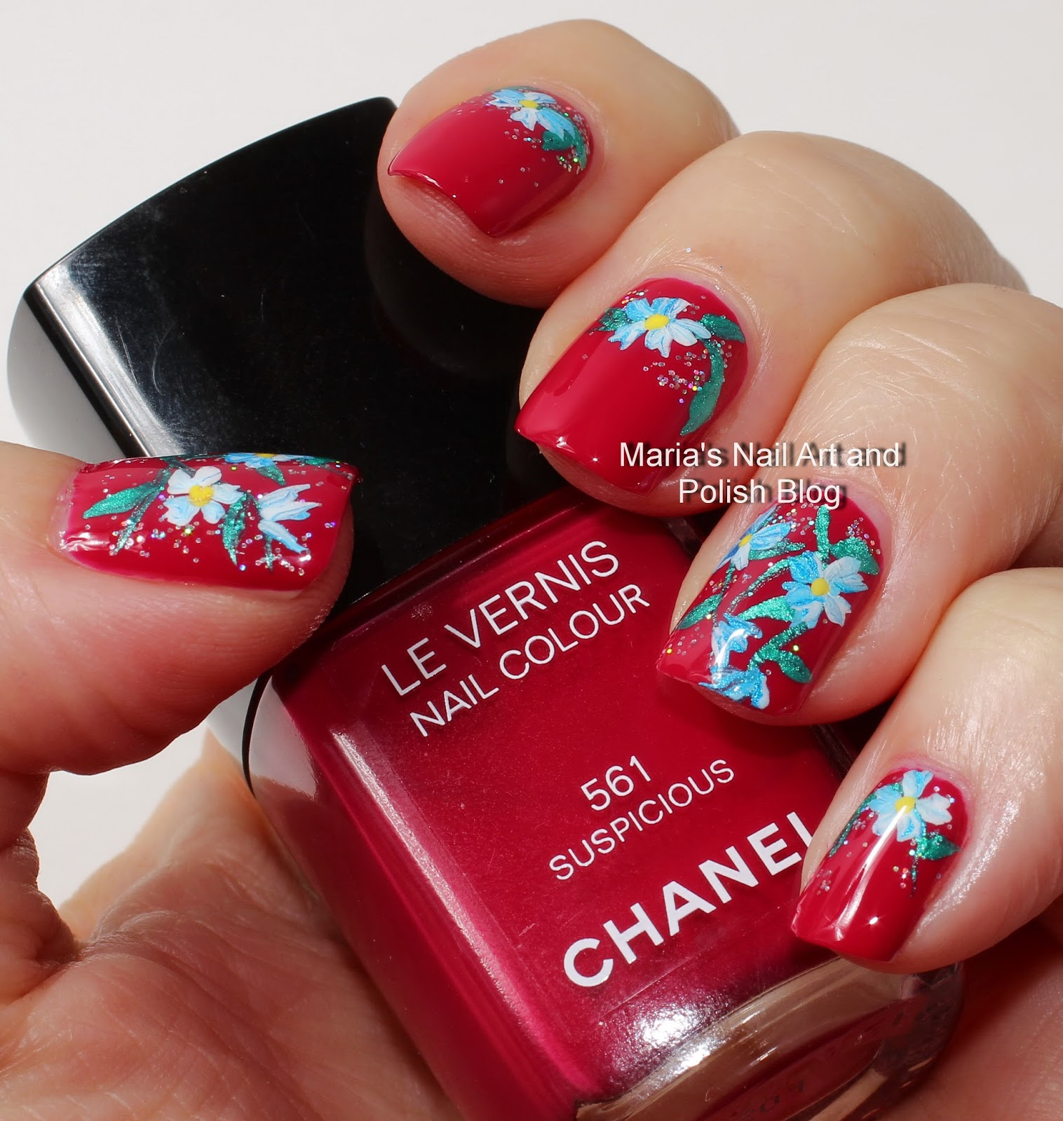 Marias Nail Art And Polish Blog Subtle Floral Nail Art On: Marias Nail Art And Polish Blog: Birthday Flowers And