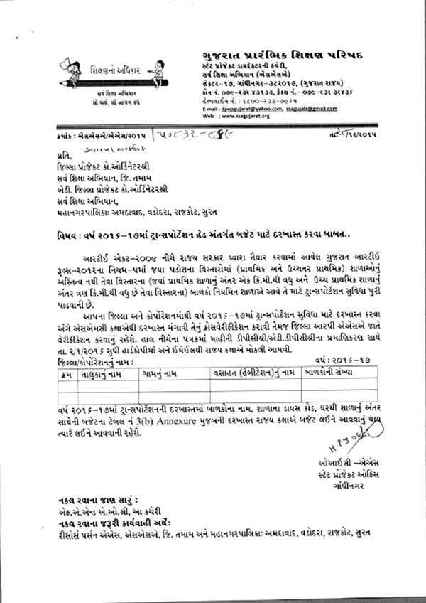 Educational Circular : Transportation Head Antargat budget Mate Darkhast Karva Babat