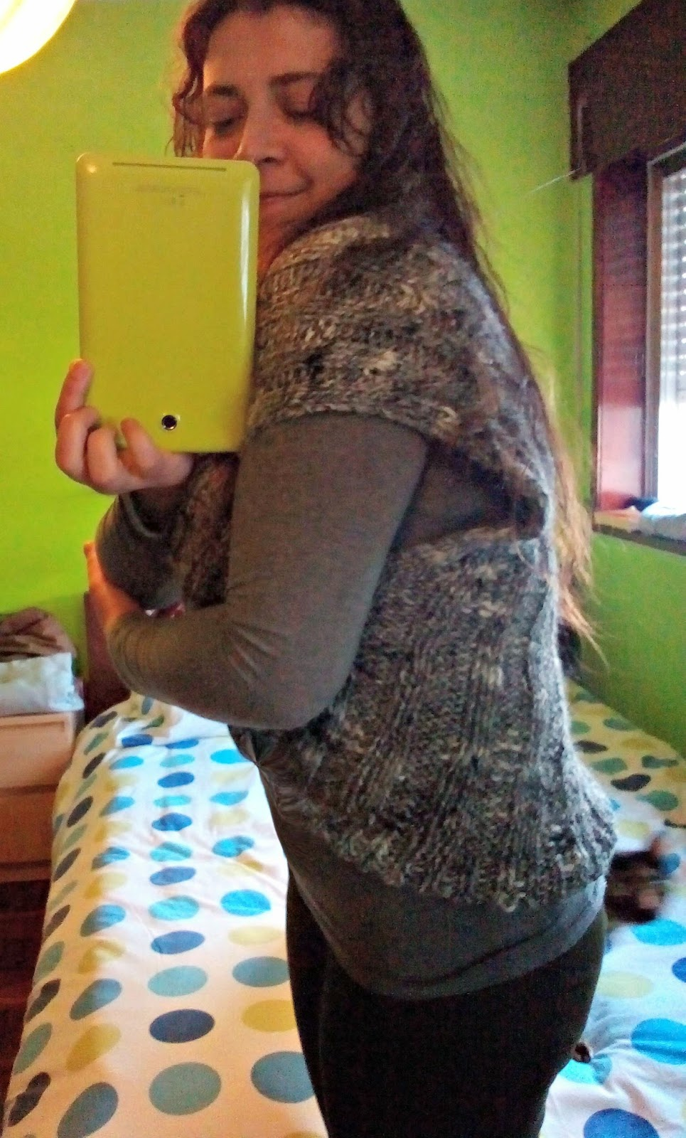 Knitting Patterns For Shrugs With Shawl Collar : The Anarchist Knitter: Shawl Collar Vest/Shrug