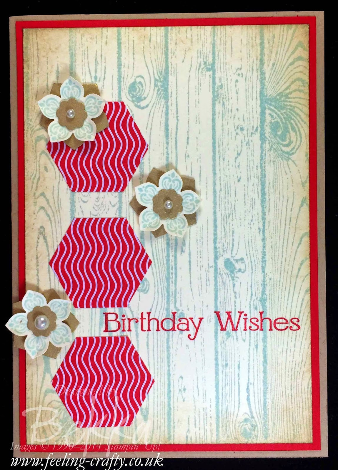 Petite Petals Birthday card by Stampin' Up! UK Independent Demonstrator Bekka - get your Stampin' Up! Supplies here