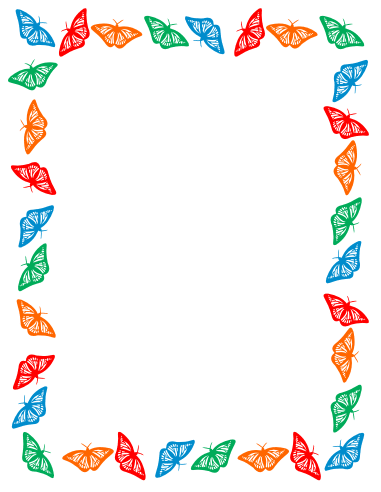 Free Clip Art  Butterfly border clipartSpring Page Border Clipart