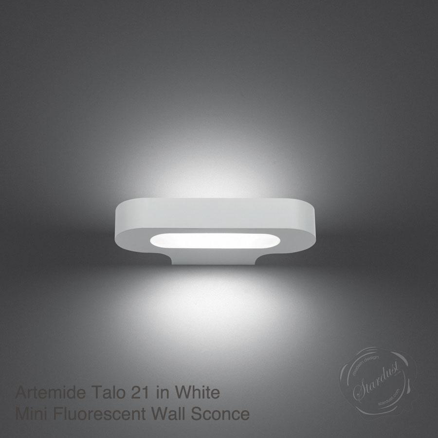 Talo21 Small Halogen Wall Sconce Bathroom Silver Grey