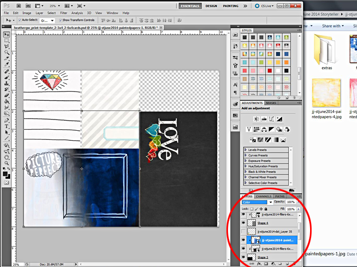 Heather Greenwood | Blending #projectlife Pocket Journal Cards and Papers Together In Adobe Photoshop