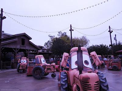 Disney DCA Mater's Junkyard Jamboree tractors Cars Land