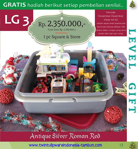 Level Gift 3 Twin Tulipware Desember 2015