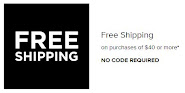 FREE Shipping with $40 Purchase