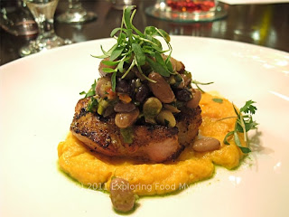 Seared Pork Loin Over Sweet Potato Mash