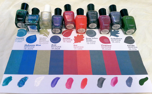 Pantone Palette; Nail Polishes