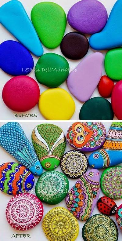 piedras, rocas, decoración, pintura, Tutorial de Artesanía, I Sassi di l Adriattico