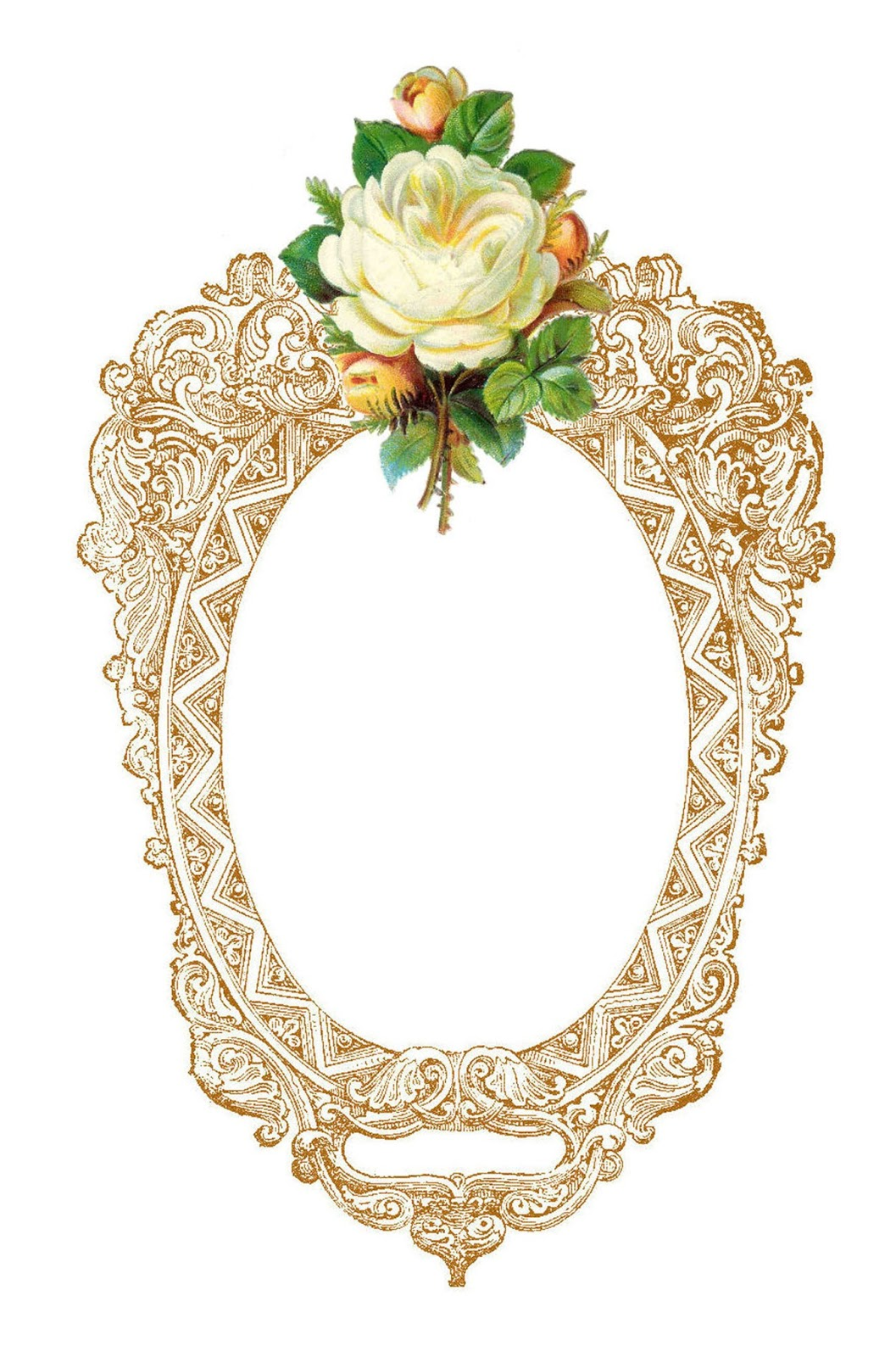 Antique Images: Free Frame Clip Art: Vintage Printable Frame with